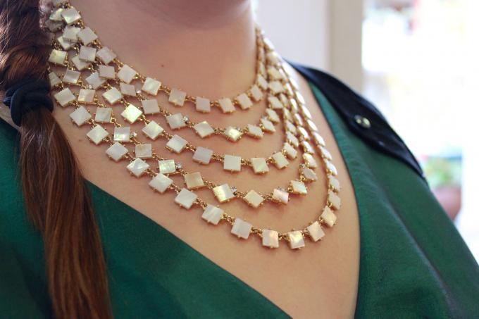 Kate Spade Pearl & Diamond Collar Necklace
