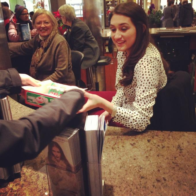 Random Act #8: Gave candy canes to employees at Bellevue Square