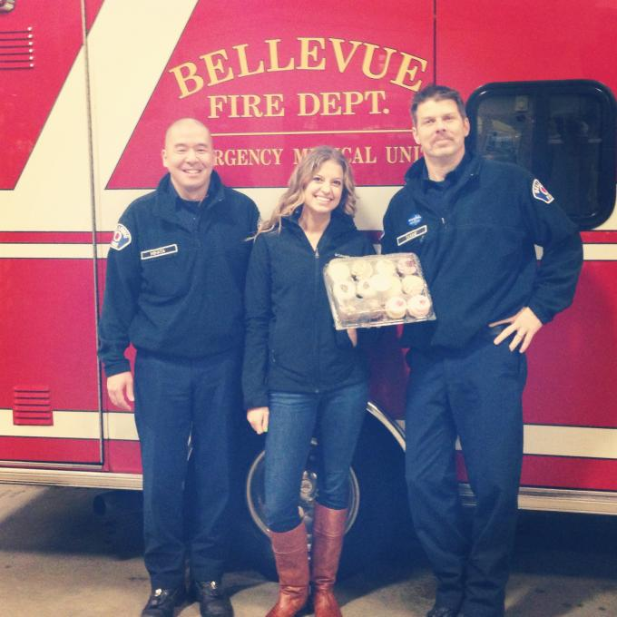Random Act #11: Delivered cupcakes to Bellevue Fire Department