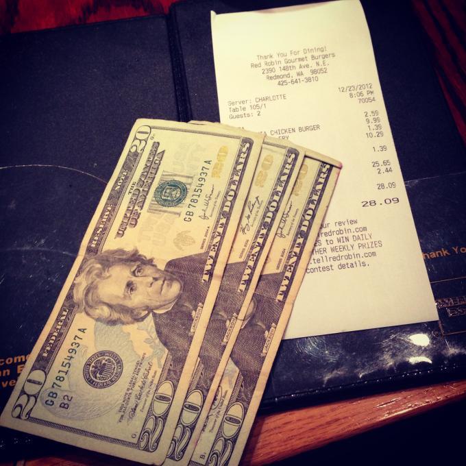 Random Act #15: Gave 100% tip
