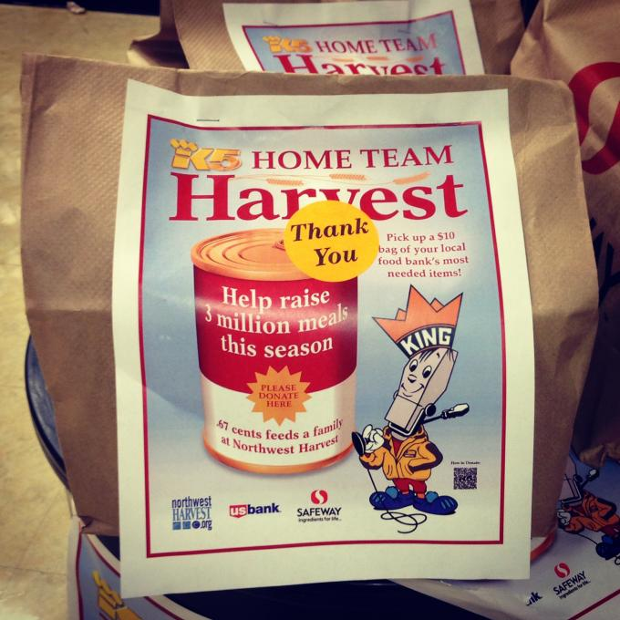 Random Act #19: Made a donation to King 5's Home Team Harvest