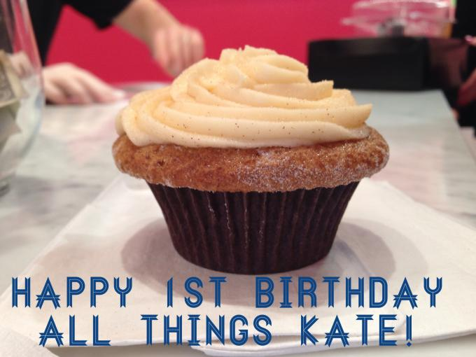 Happy 1st Birthday All Things Kate!