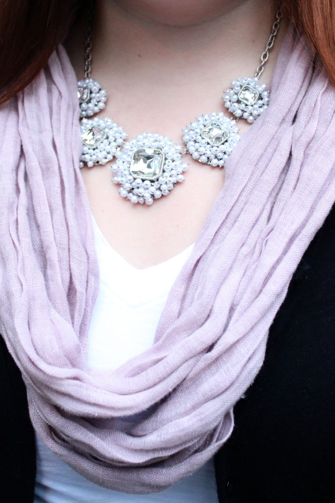 Eileen Fisher Scarf & Bauble Bar Necklace