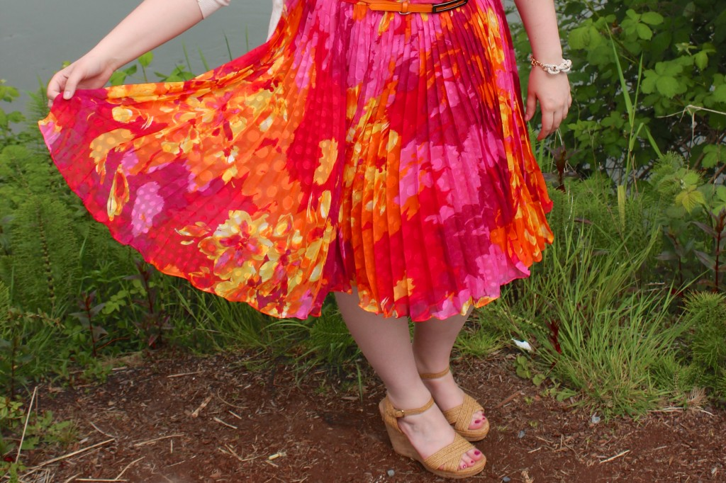 Adrianna Papell Fit & Flare Chiffon Dress