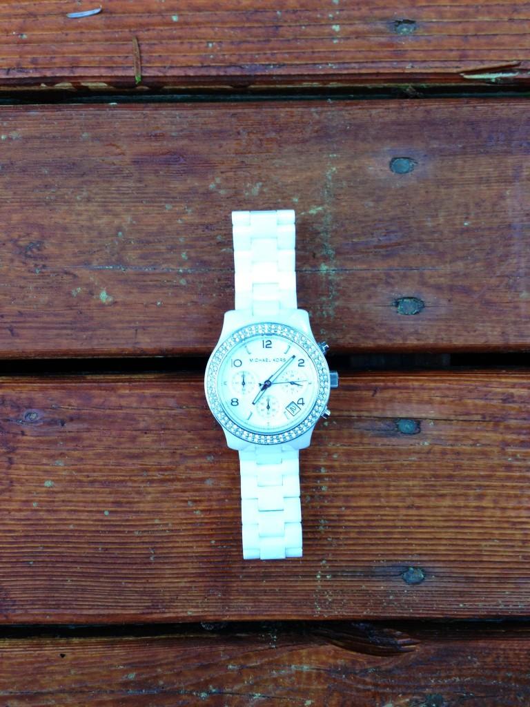 Michael Kors ceramic white watch