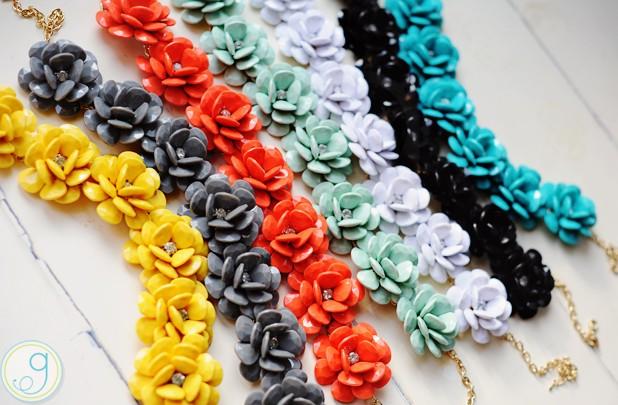 rosette necklaces