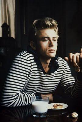 James Dean in stripes circa 1955