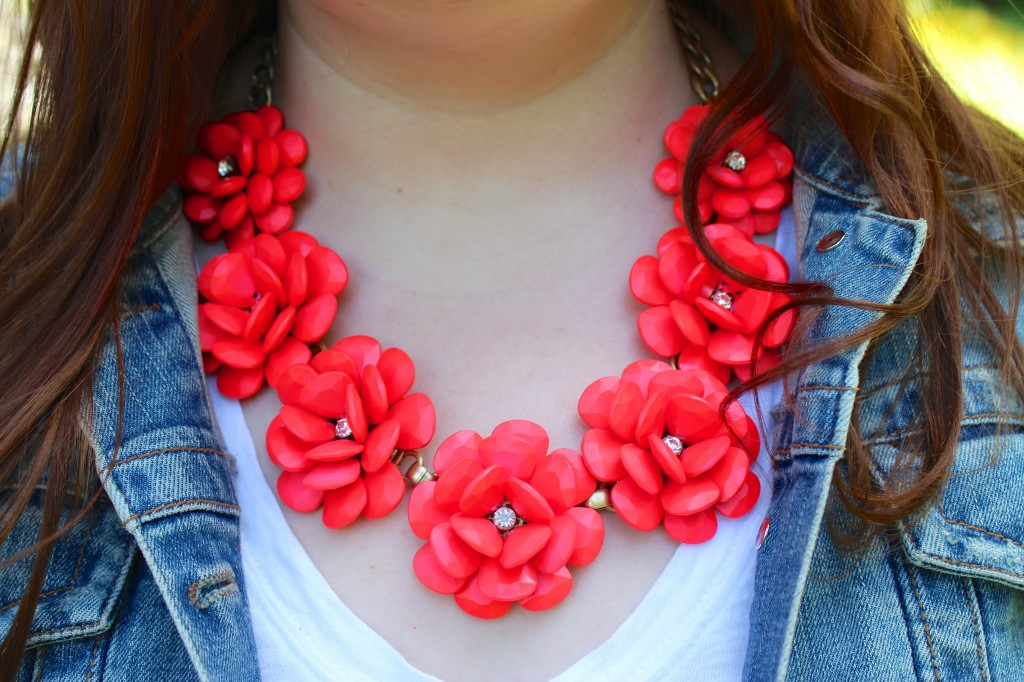 J. Crew Rosette Necklace