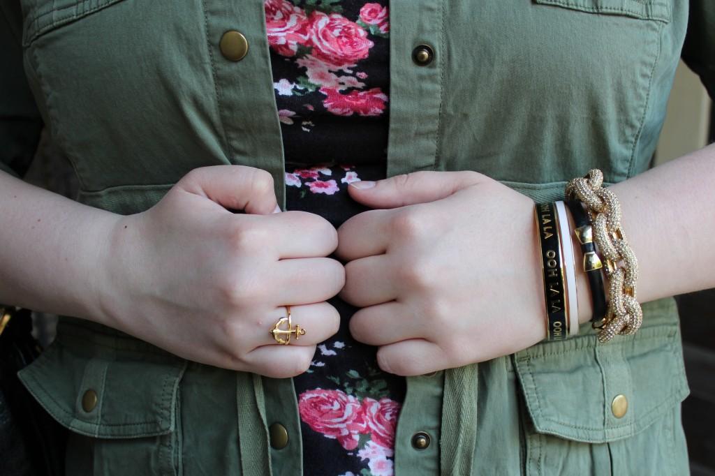 Kate Spade bangles & J. Crew bracelet