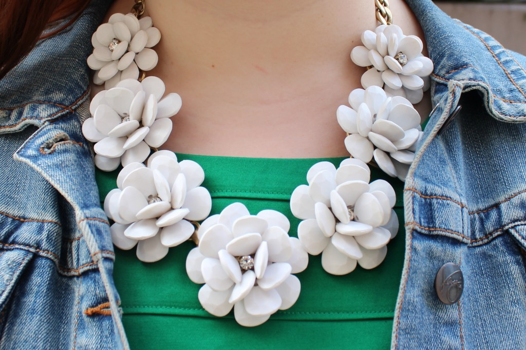 J. Crew beaded rose necklace