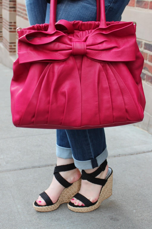 RED Valentino Bag & Stuart Weitzman Wedges