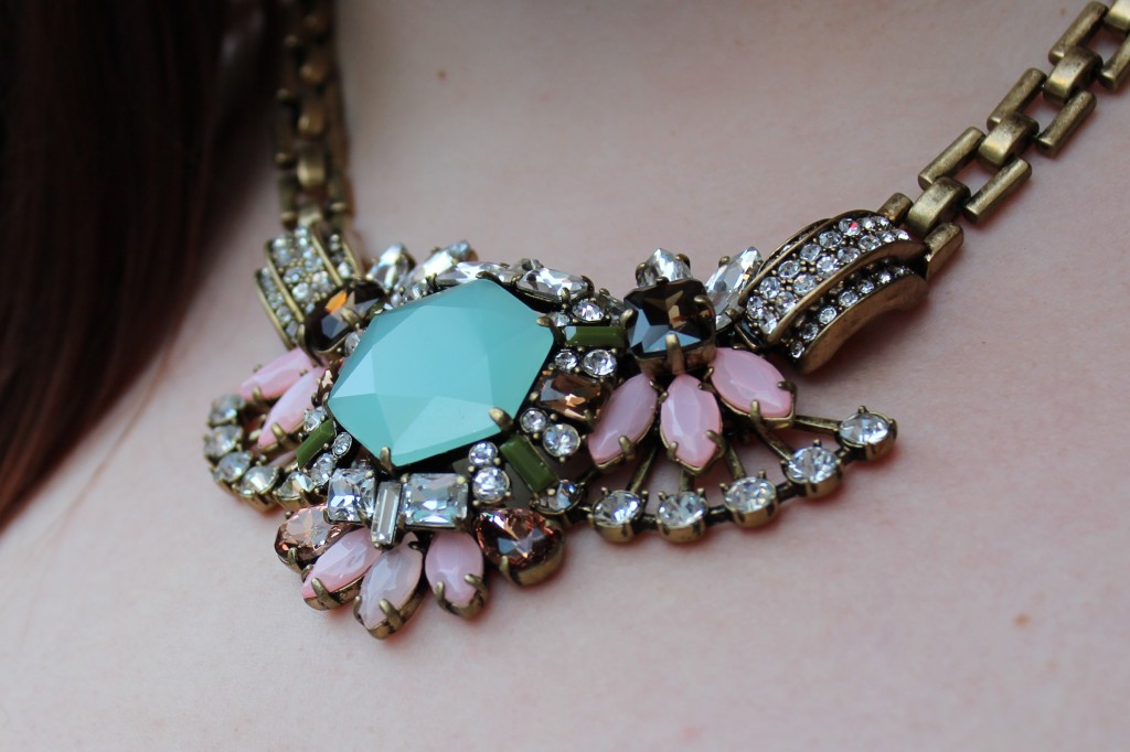 J. Crew Crystal Compilation Necklace