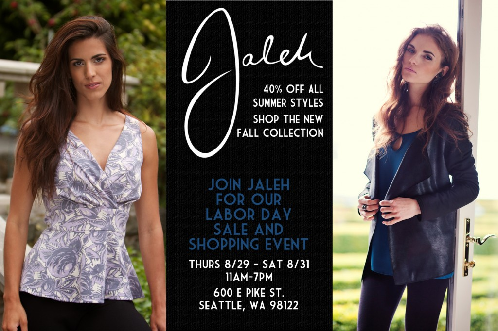 Jaleh Clothing Labor Day Pop-Up Shop
