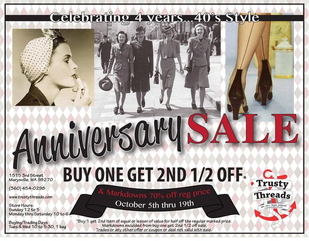 Trusty Threads 4-year Anniversary Sale