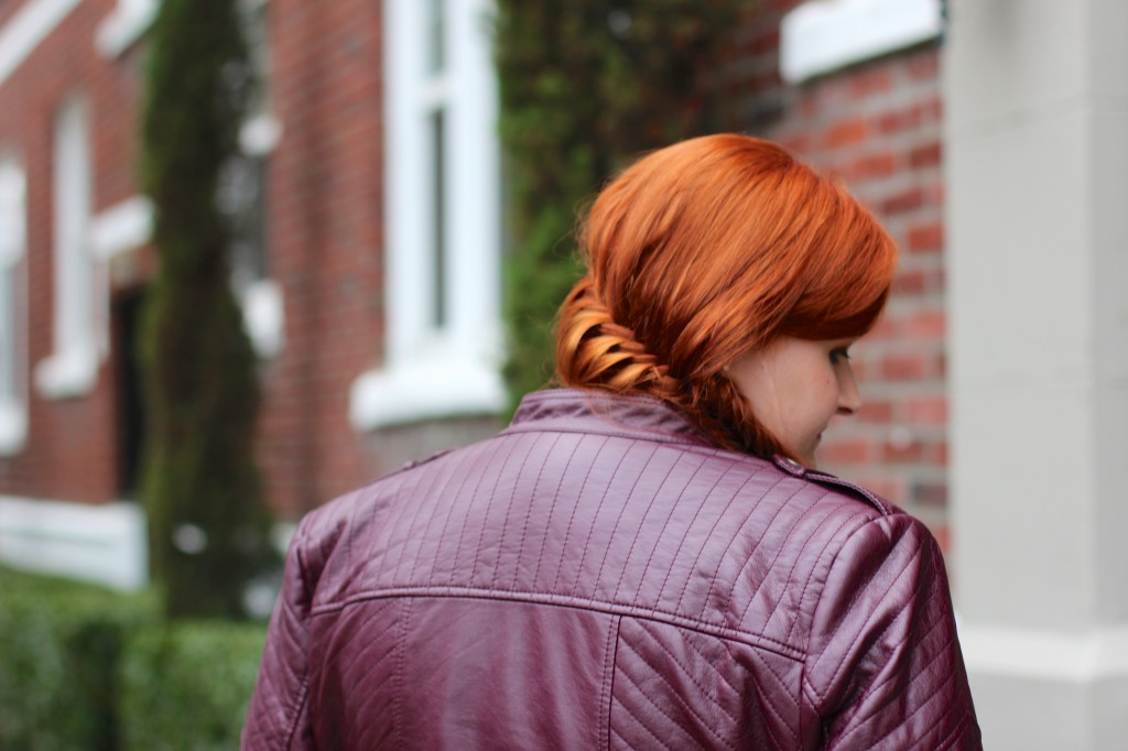 INC Faux Leather Jacket