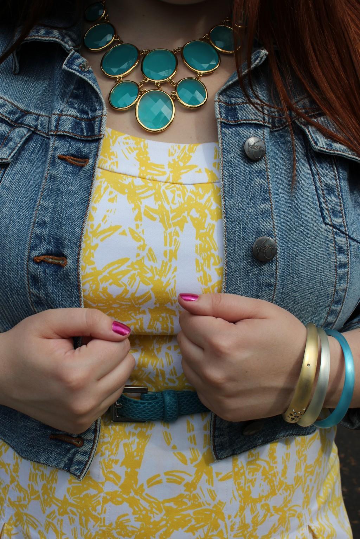 Kate Spade necklace & Alexis Bittar Bangles