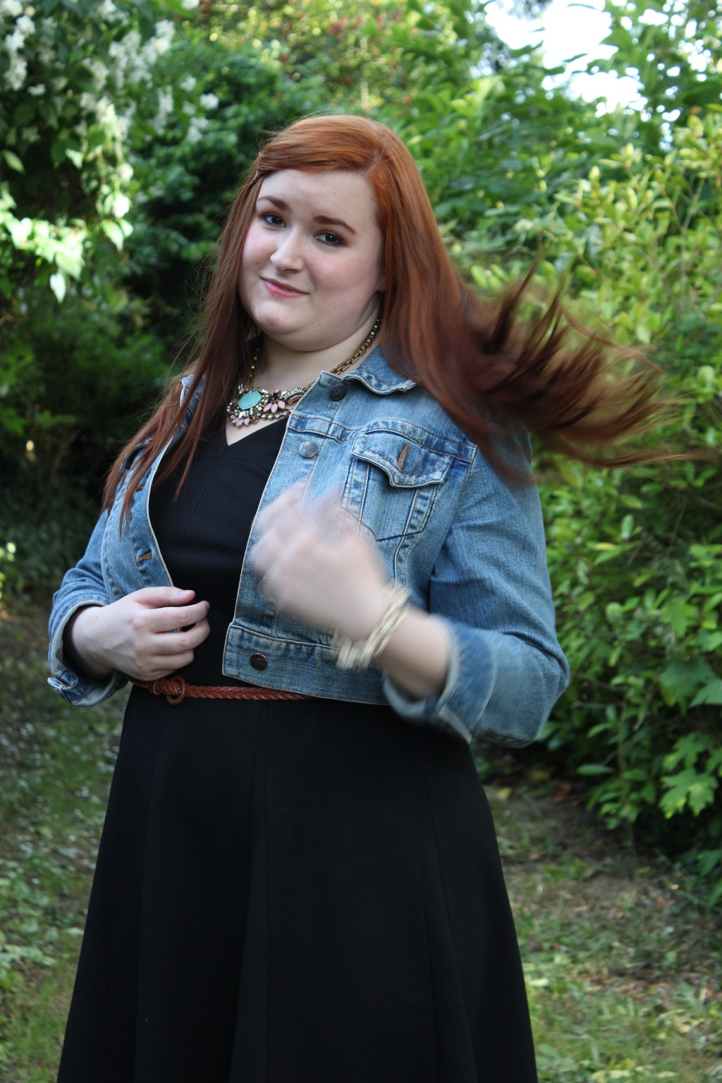 Hair Flip action shot