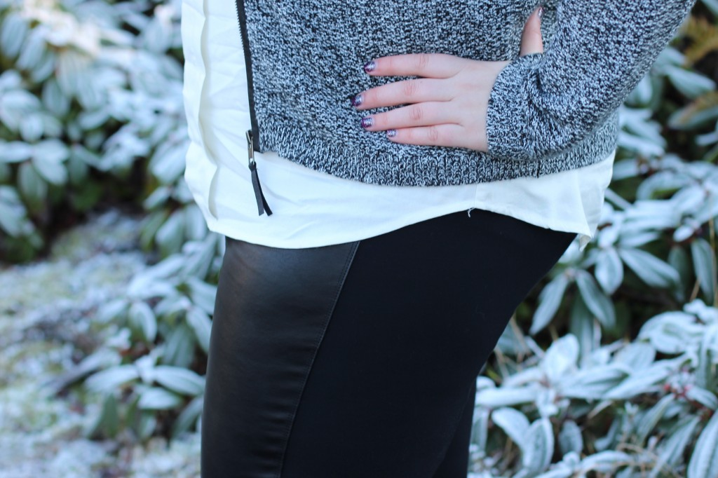 NYDJ Leather Leggings with Ponte Knit