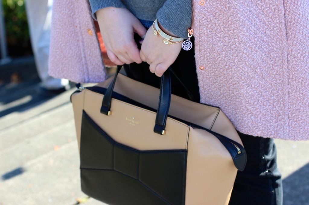 Kate Spade Beau Bag & Charming Charlie Bracelets