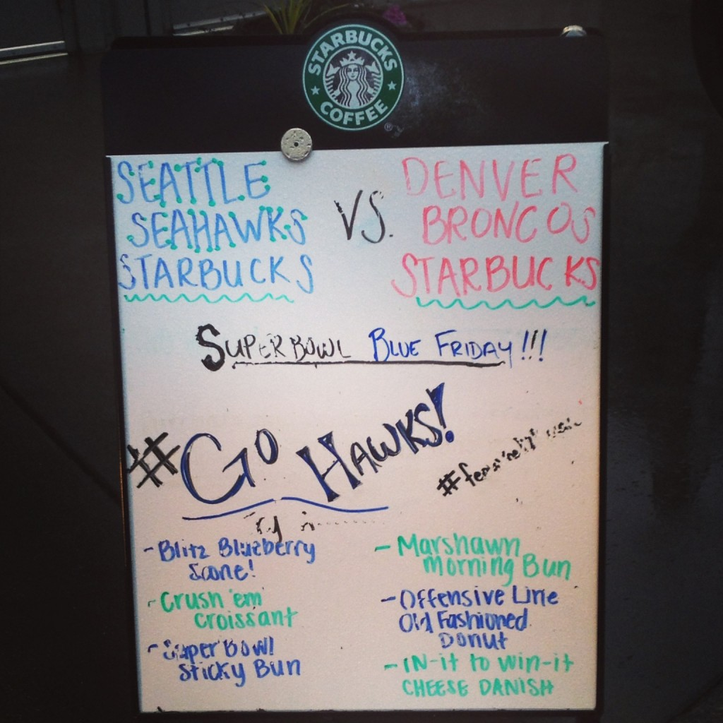 Seahawks Starbucks Menu