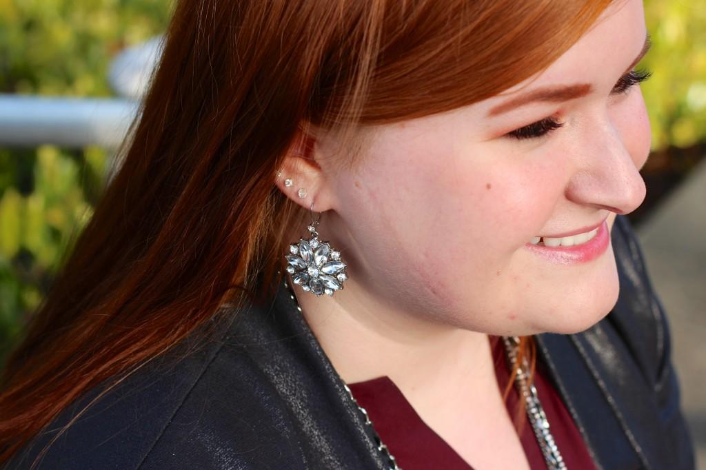 Betsey Johnson Flower Earring Detail