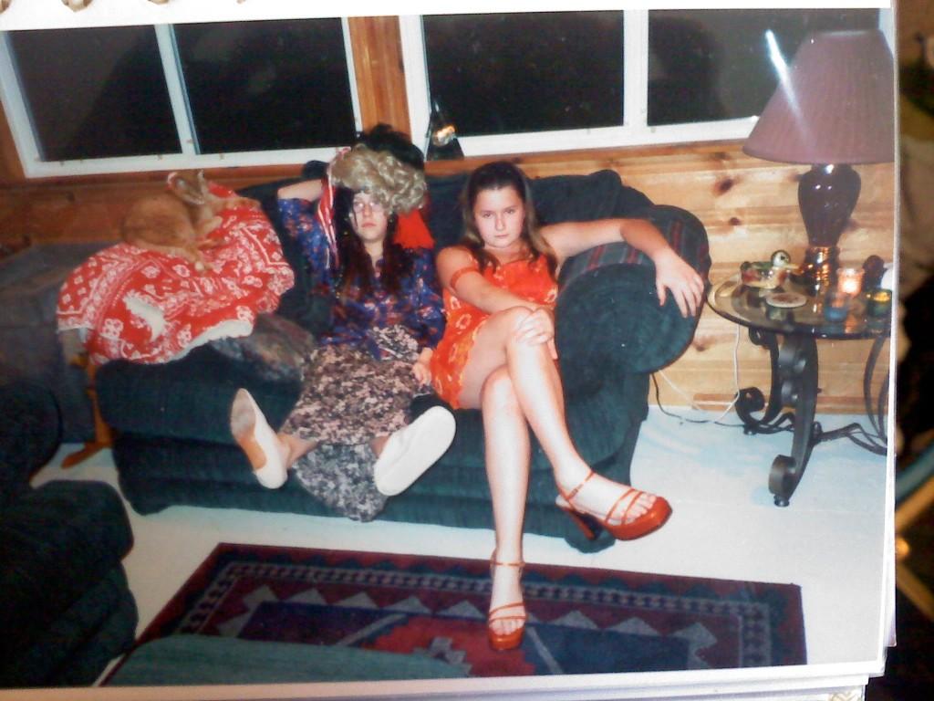 Kate & Liz Playing Dress Up