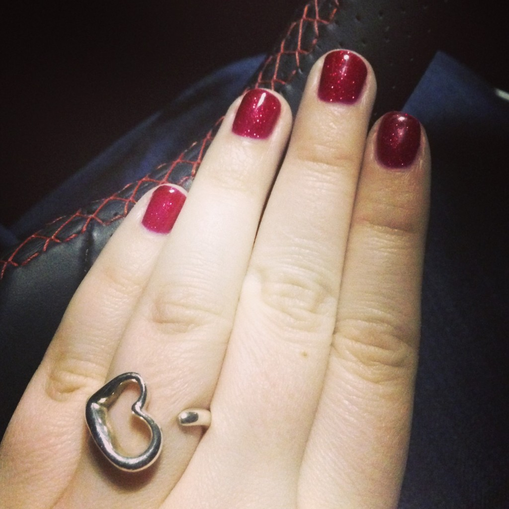 Ruby Red Nails