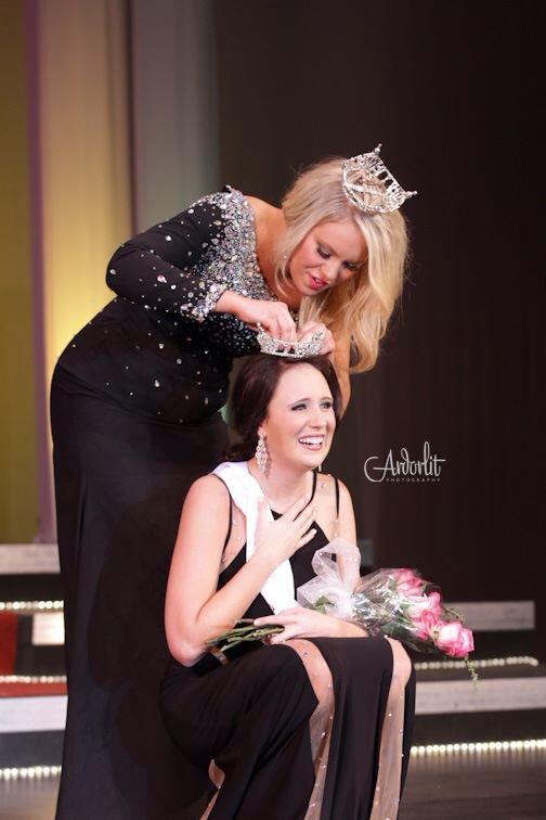 Megan Leibold getting crowned