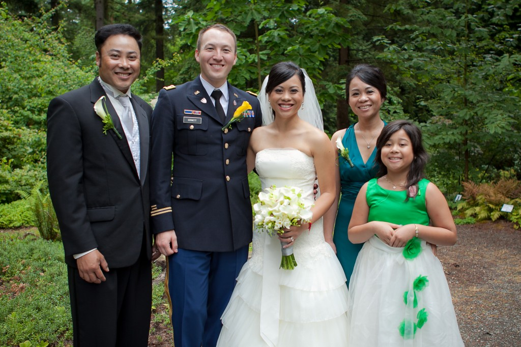 Patrick & Makara on her wedding day with her family