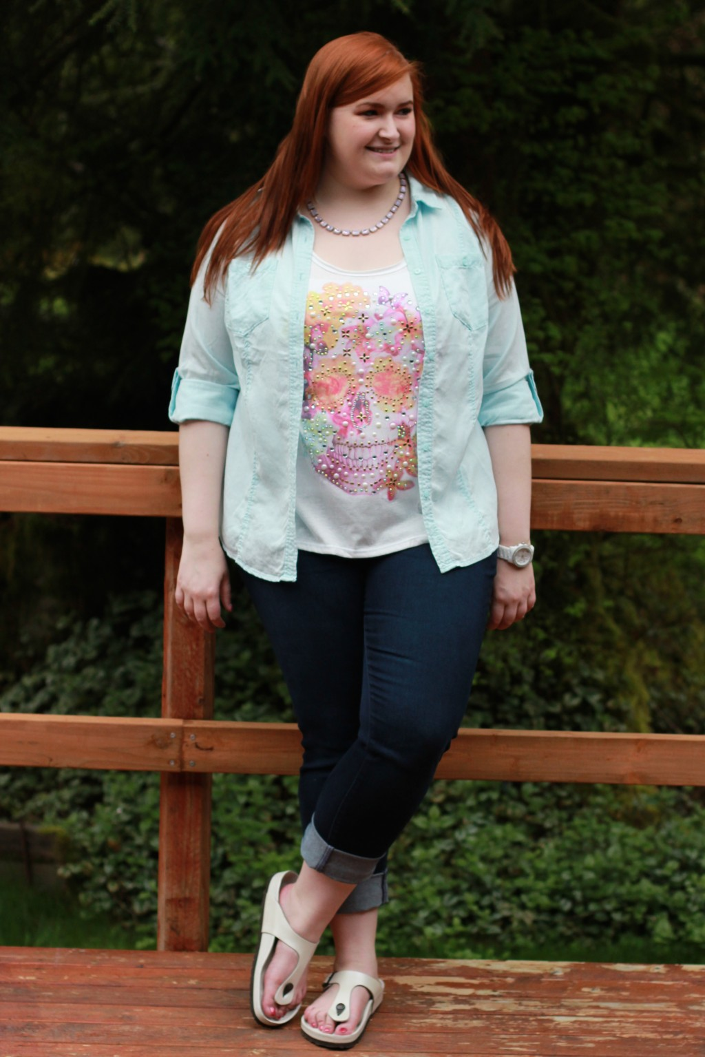 Kate Retherford of All Things Kate in Lane Bryant, KUT from the Kloth, & Birkenstock