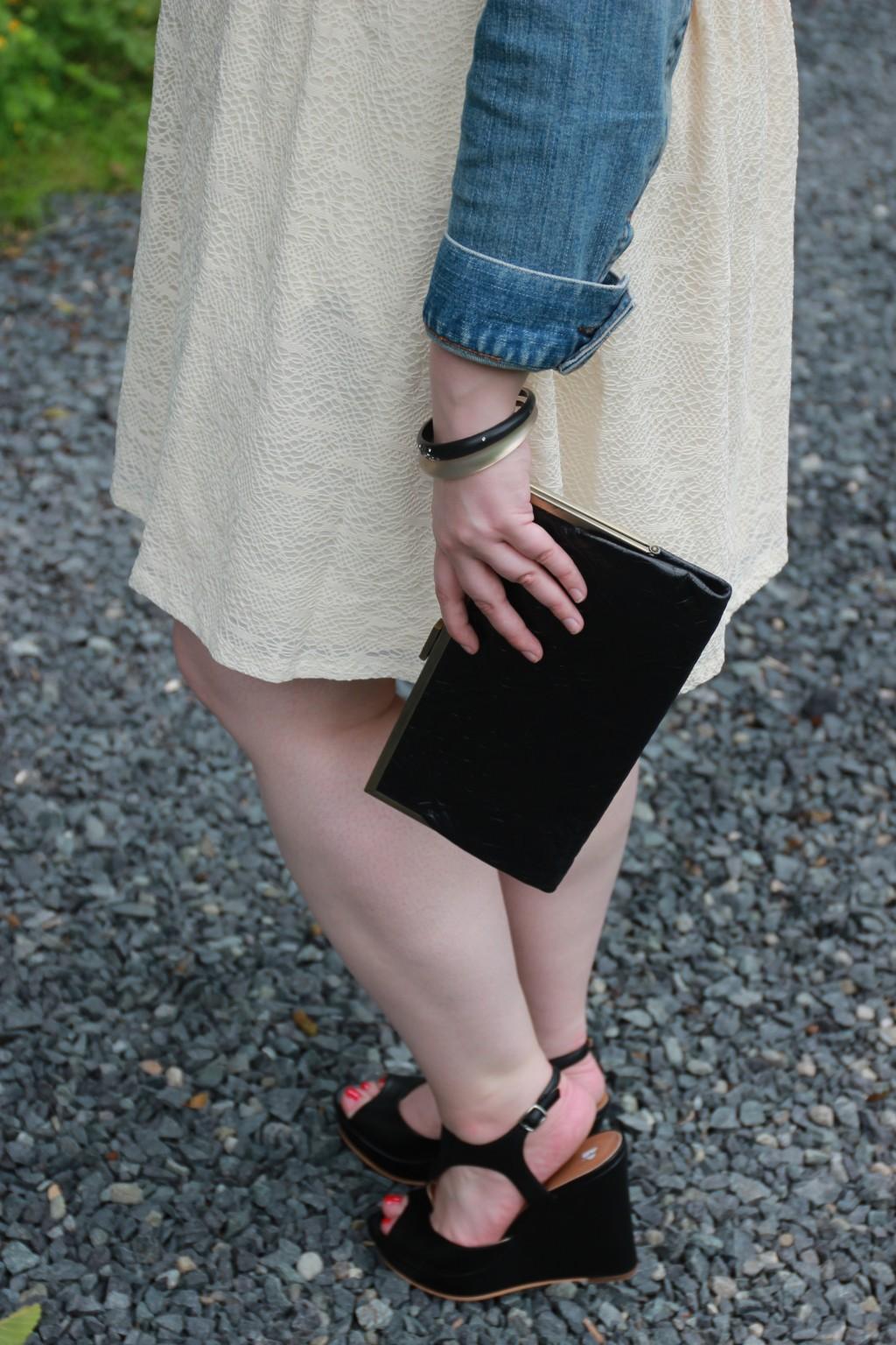 Cream and black accessories