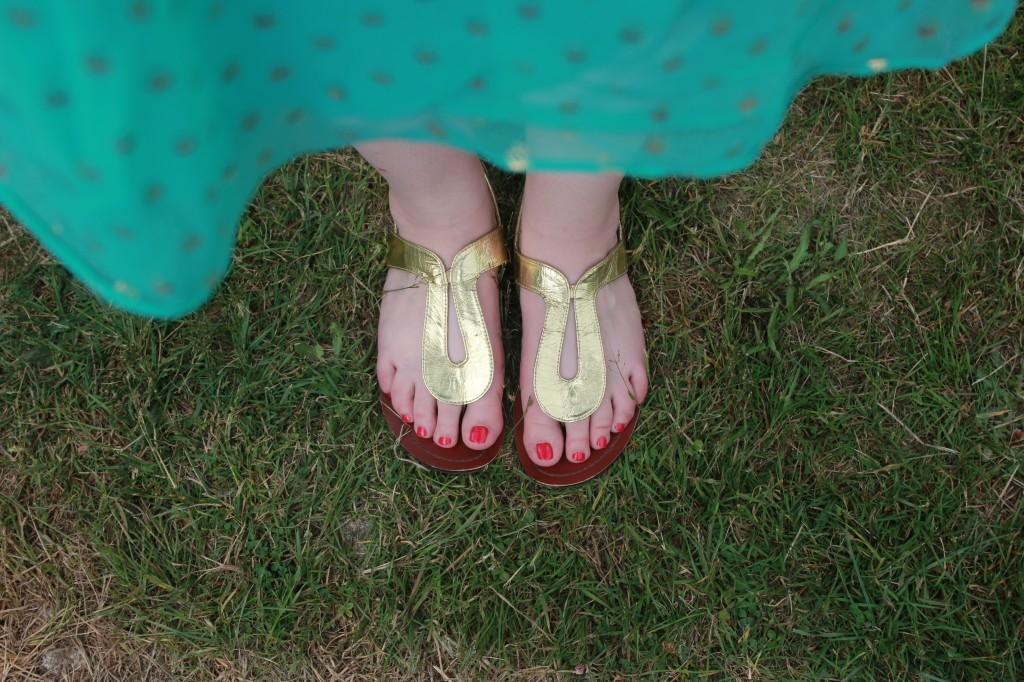 Gold Summer Sandals