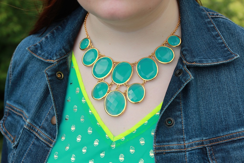 Neon outfit details