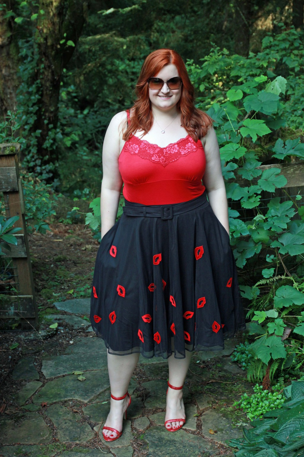 All Things Kate in eShakti Lip Skirt