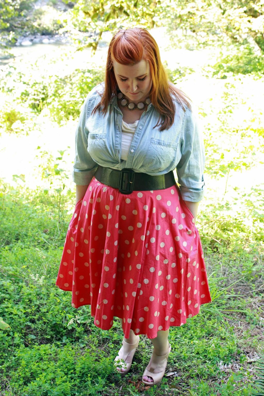 Polka Dot Circle Skirt