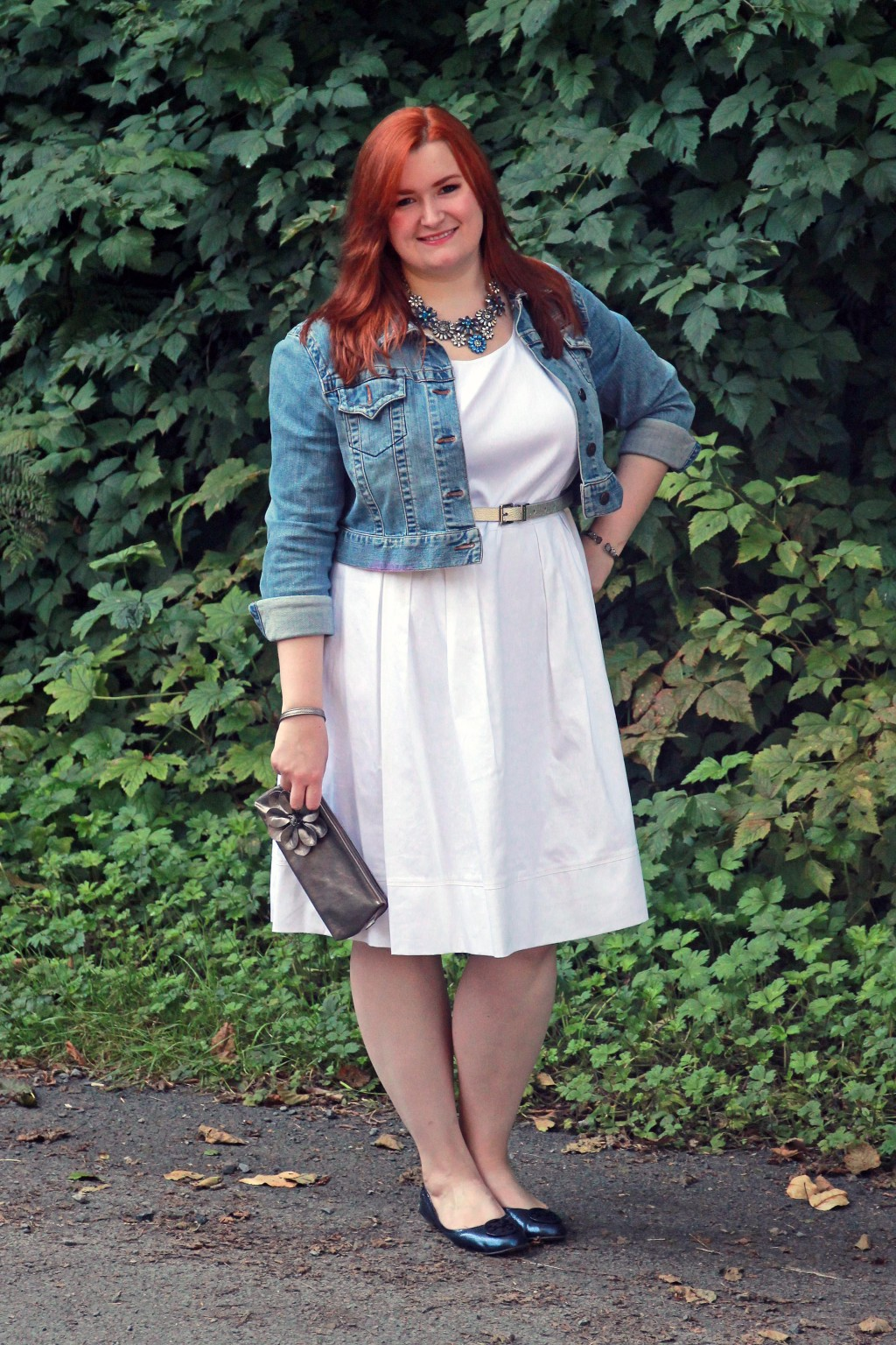 Styling a plus size white dress