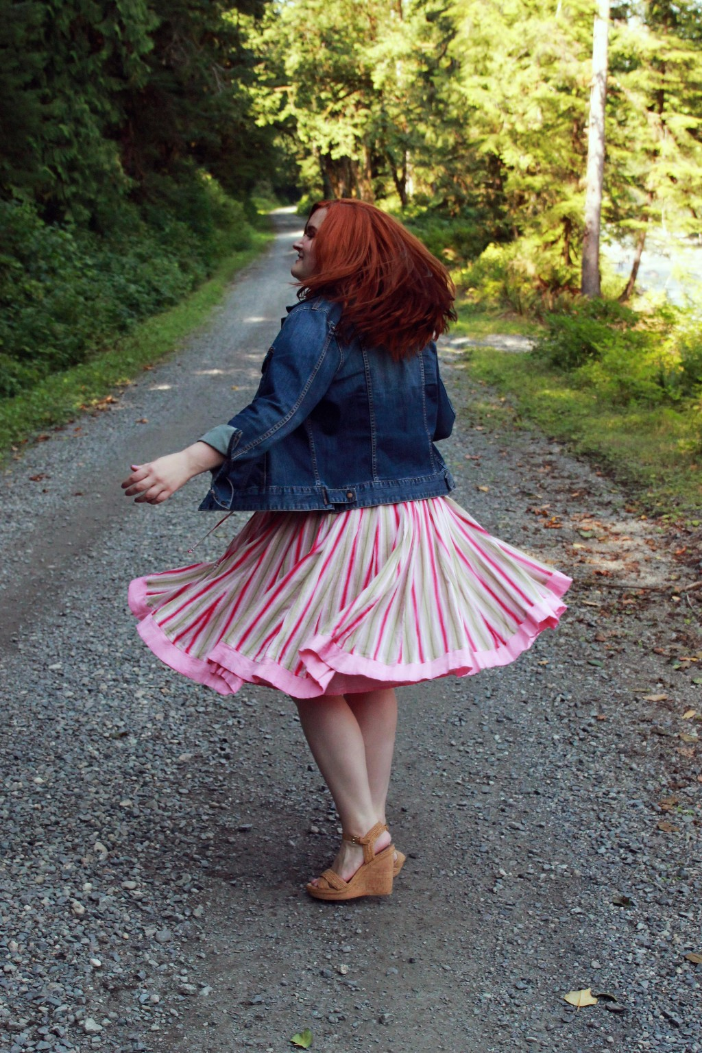 Twirling in a skirt