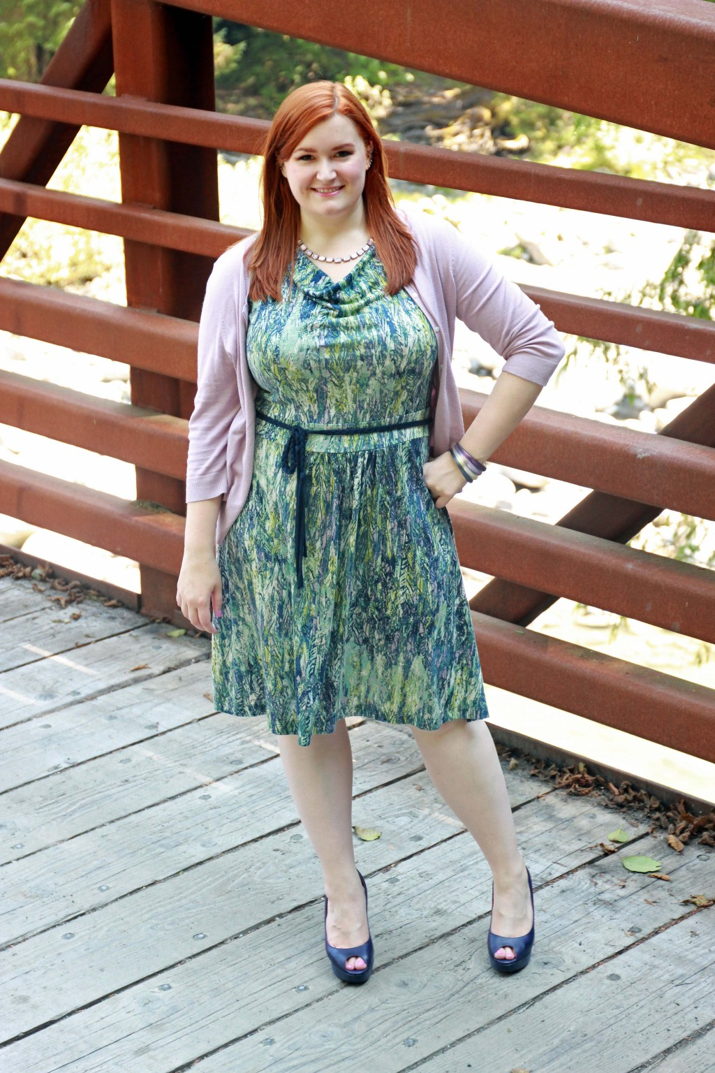 All Things Kate in Plus Size Nic + Zoe Dress
