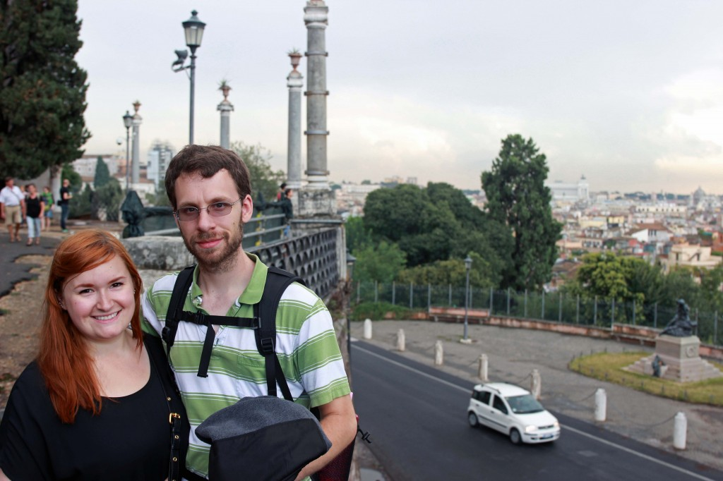Kate and Jon in Rome