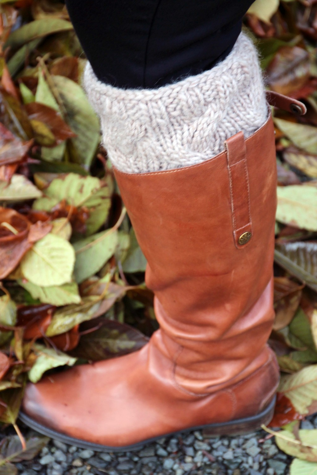 Knitted boot cuffs and boots
