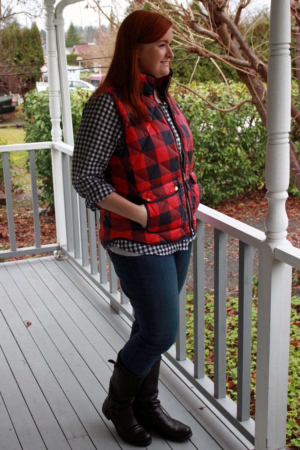 J. Crew Plaid Flannel Inspired Outfit