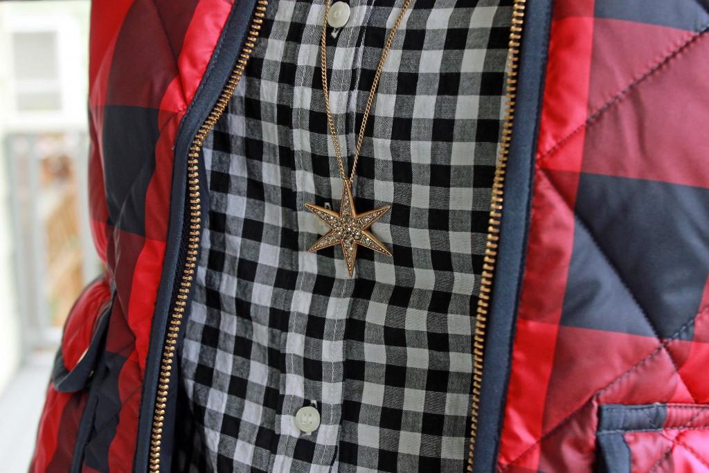J. Crew Starburst Pendant Necklace