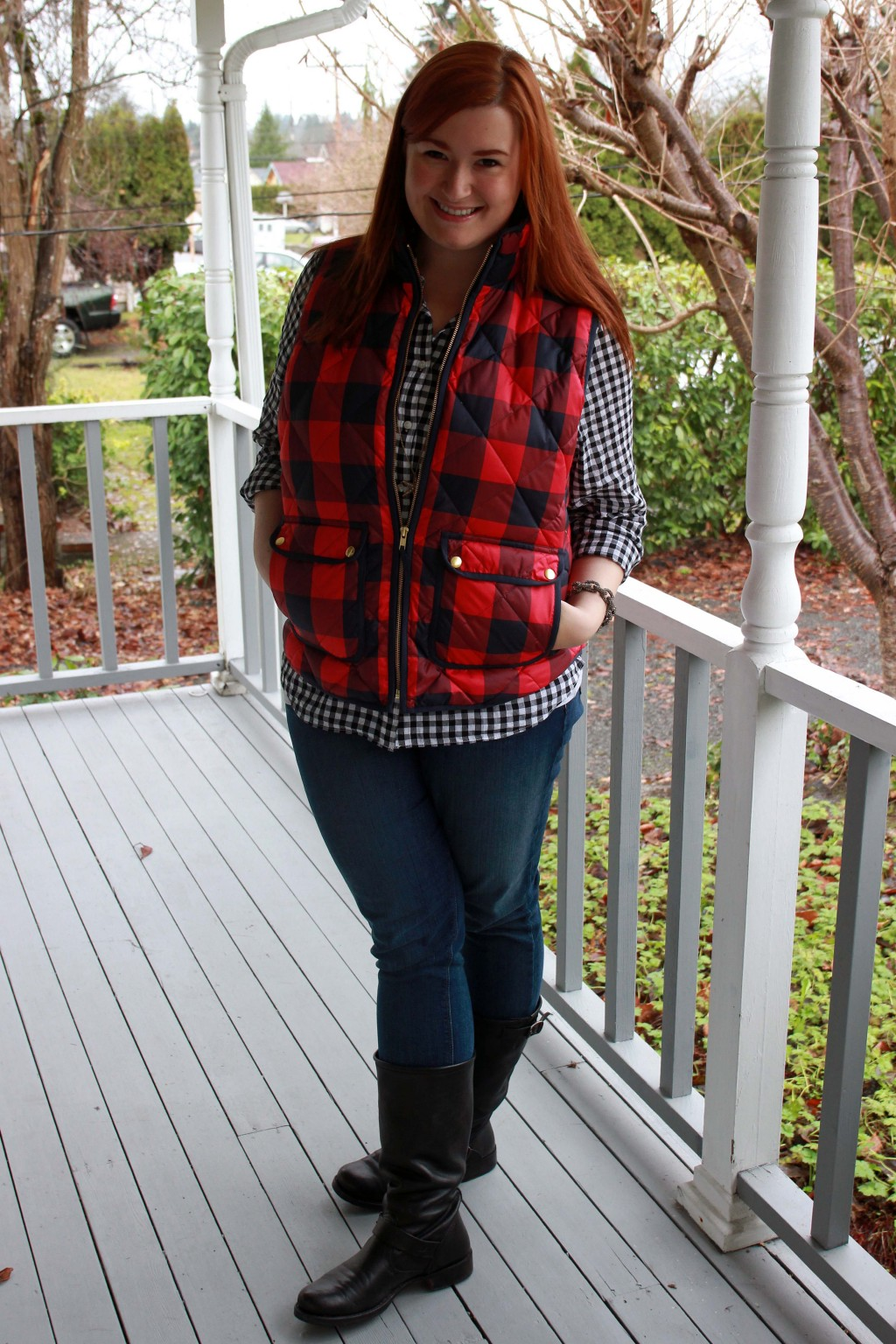 Preppy plaid style inspiration