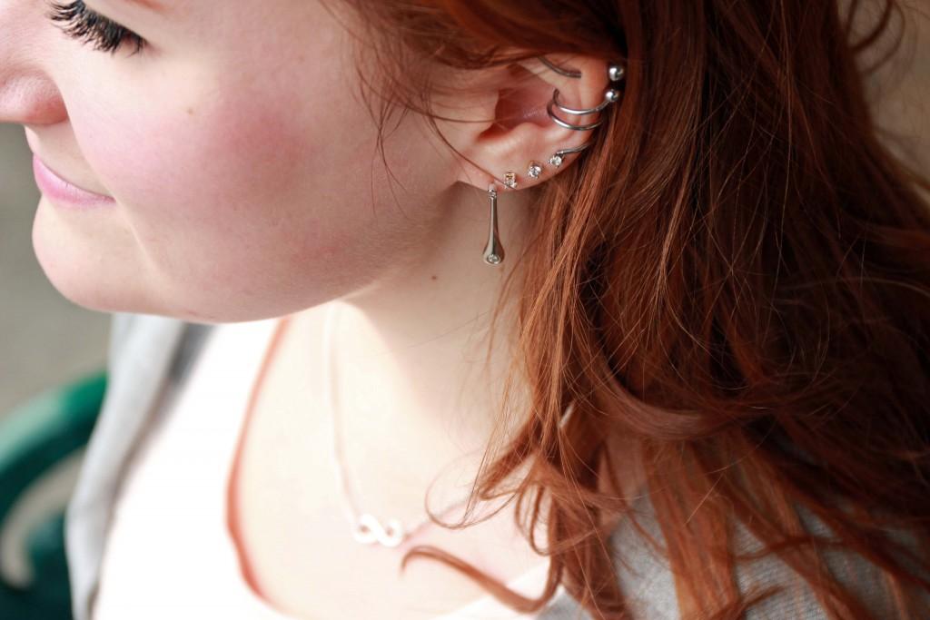 Ben Bridge Silver drop diamond earrings