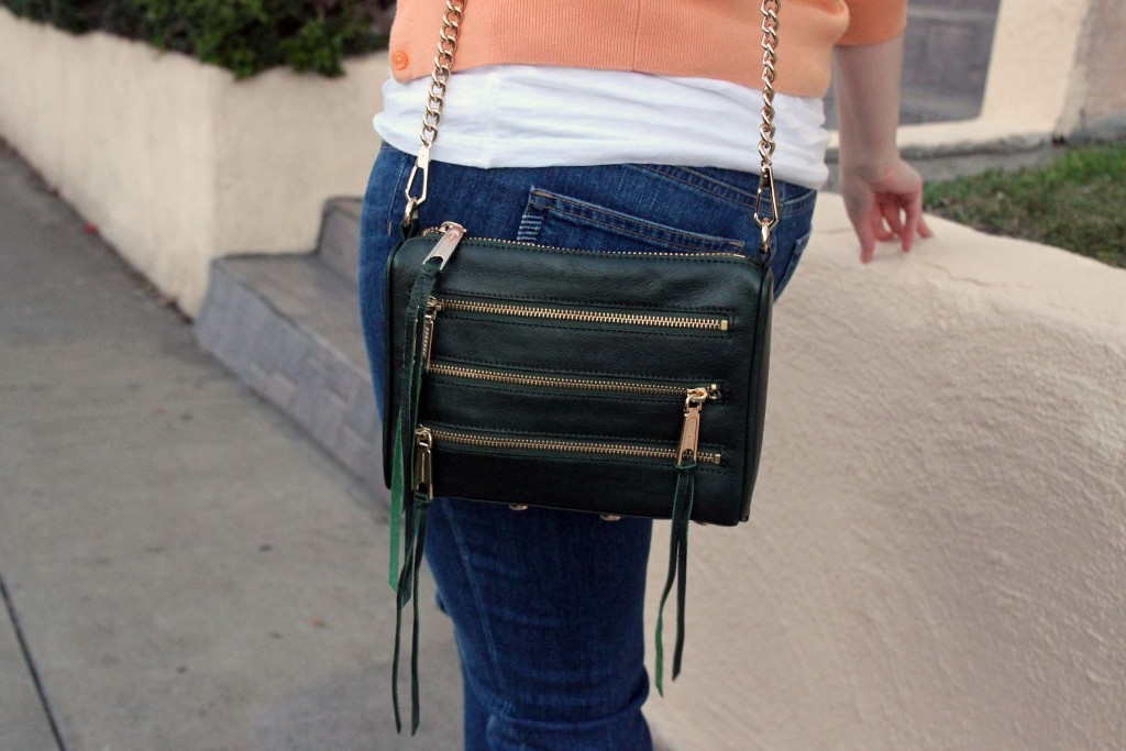 Hunter green Rebecca Minkoff bag
