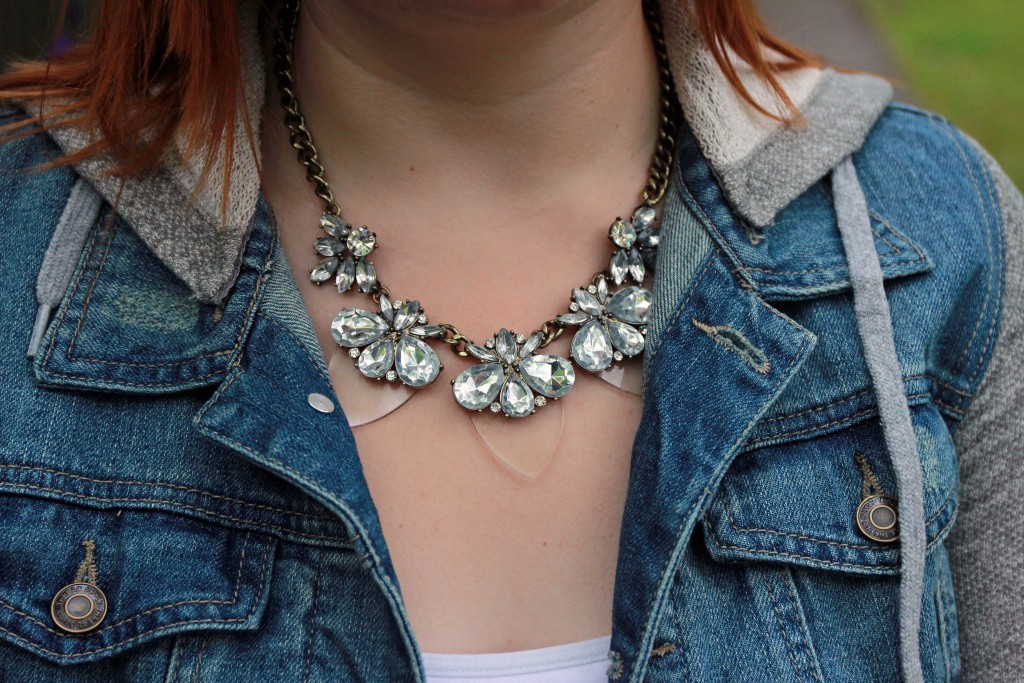 Bauble Bar Clear Plastic Necklace