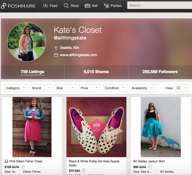All Things Kate Poshmark Closet