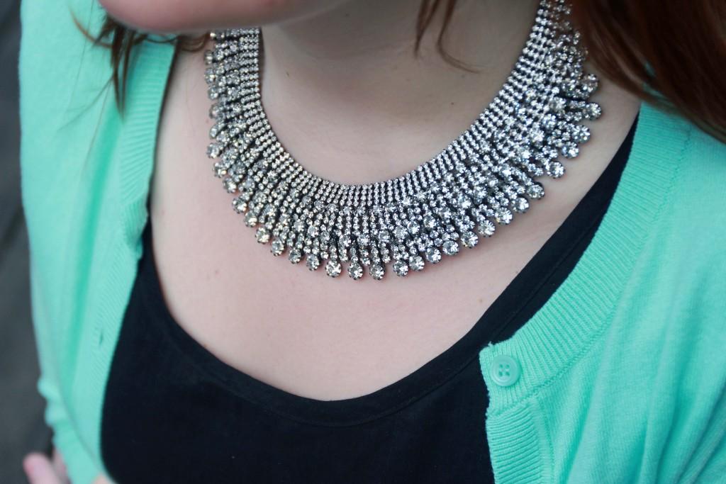 Faux Diamond Collar Necklace