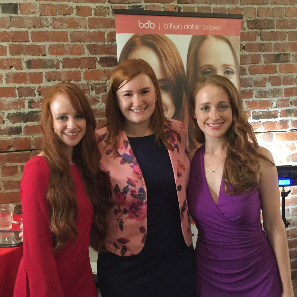 Kate Retherford with Adrienne & Stephanie of How to Be a Redhead
