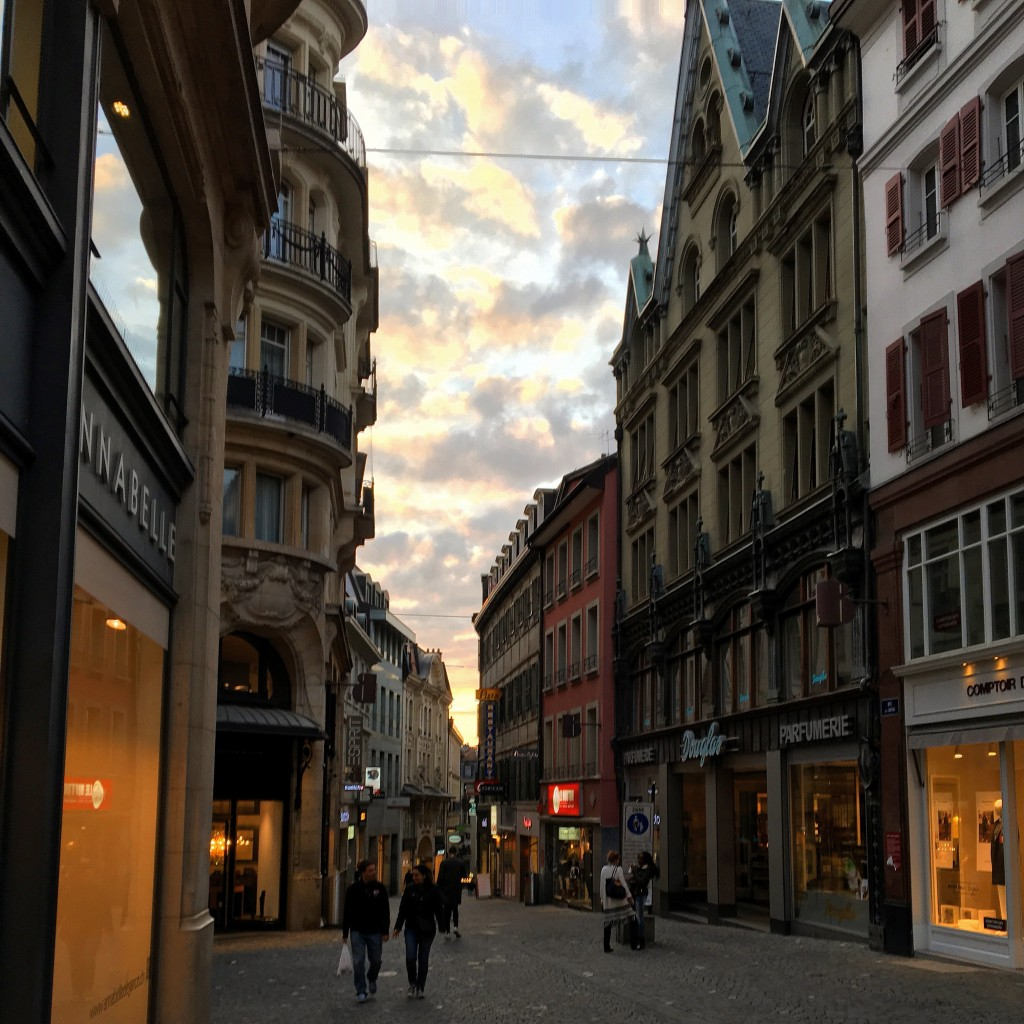 Lausanne, Switzerland Sunset